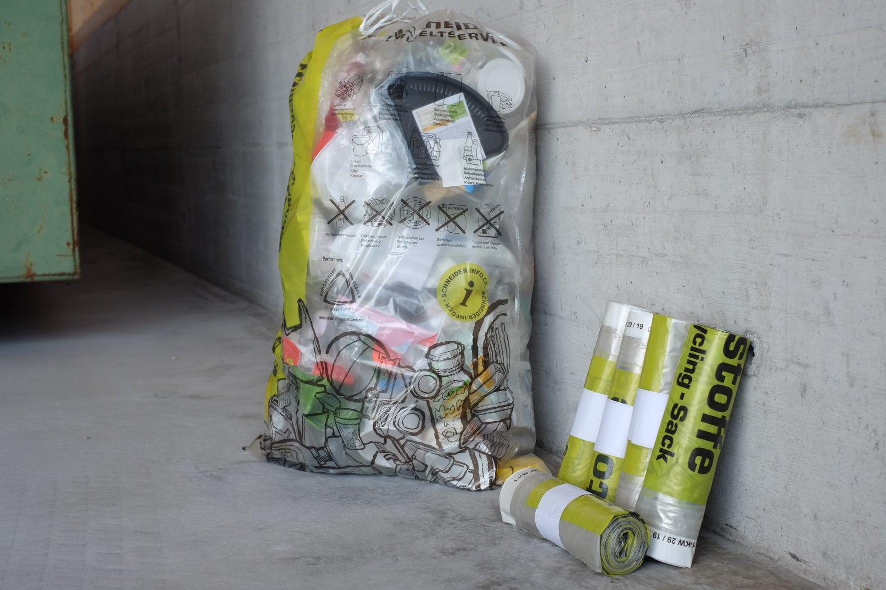 Haushaltkunststoffe - Schneider Recycling-Sack