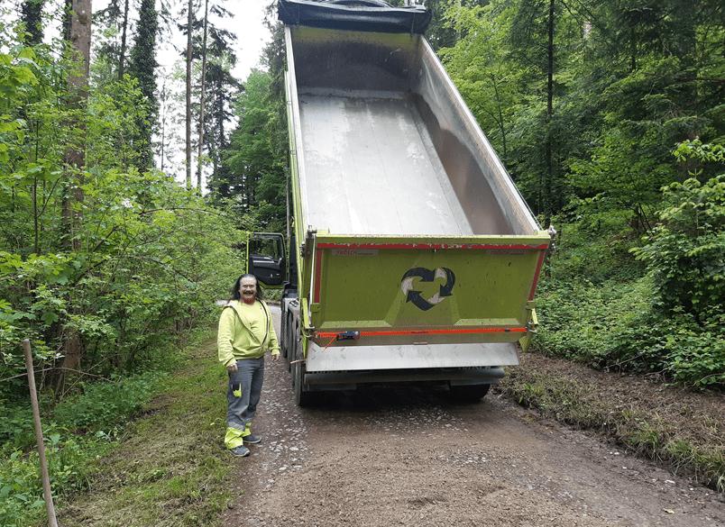 Umweltservice im Wald