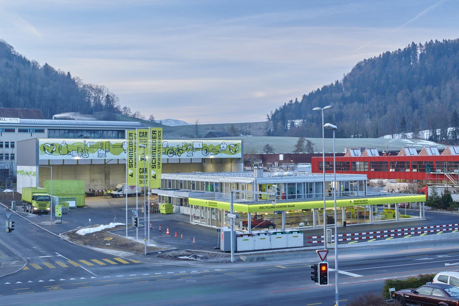 Neues Recycling-Center Baar